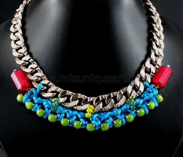Chunky Necklace Multicolor