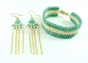 Chevron Bracelet & Matching Earrings