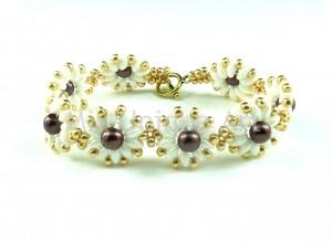 Flowers in Beads bracelet